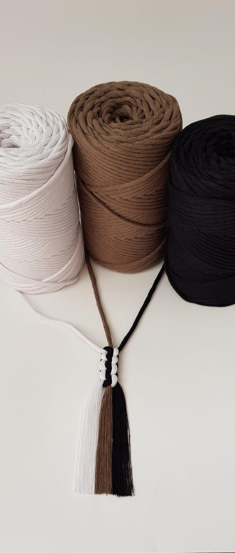 3mm*200m Natural Made Cotton Cord Macrame Yarn Rope DIY Hanging Crafts String Uk