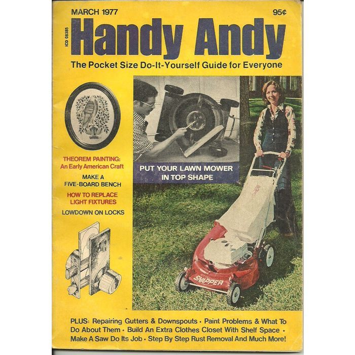 Handy andy do it yourself guide book magazine march 1977 locks lawn handy andy do it yourself guide book magazine march 1977 locks lawn mowers listing in the solutioingenieria Image collections