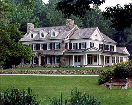 Fresh Farmhouse But Needs A Bigger Porch House Exterior Architecture Dream House