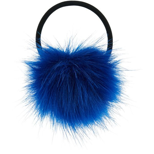 Accessorize Pom Hair Pony 55 SEK Liked On Polyvore Featuring Accessories Elastic Ties And Ponytail