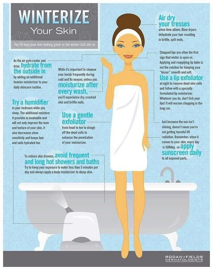 After you get out of the shower or bath, don't dry your skin off completely. While it's still damp you have a great opportunity to help your skin hold onto that water. Slather yourself from head to toe with a rich moisturizing cream or body oil!