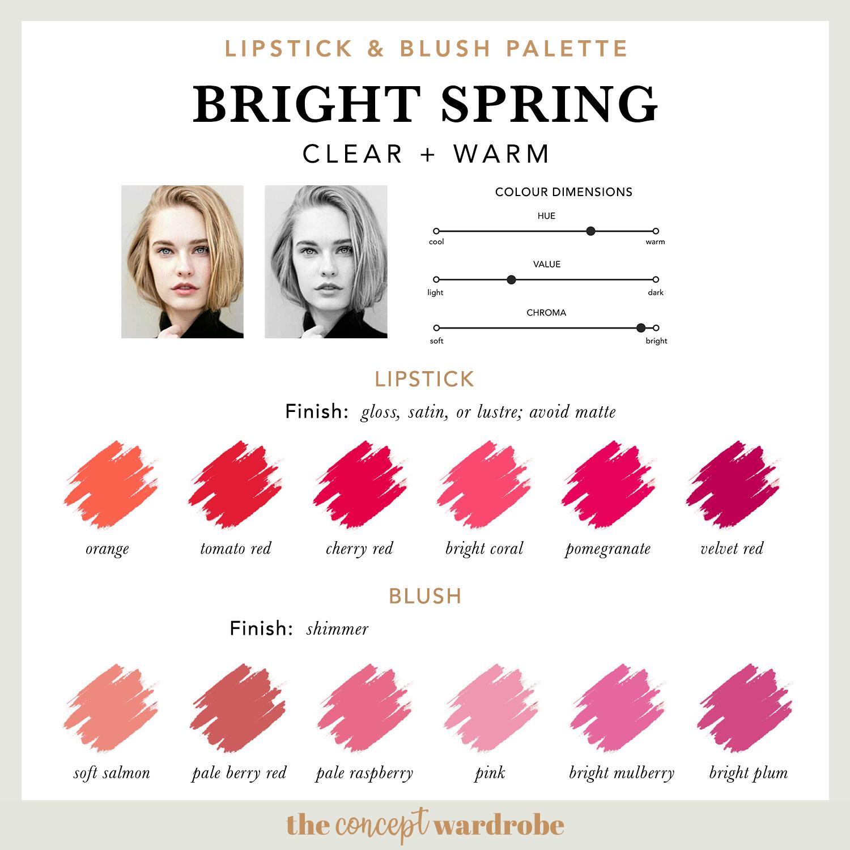 BRIGHT SPRING   Lipstick & Blush Palette
