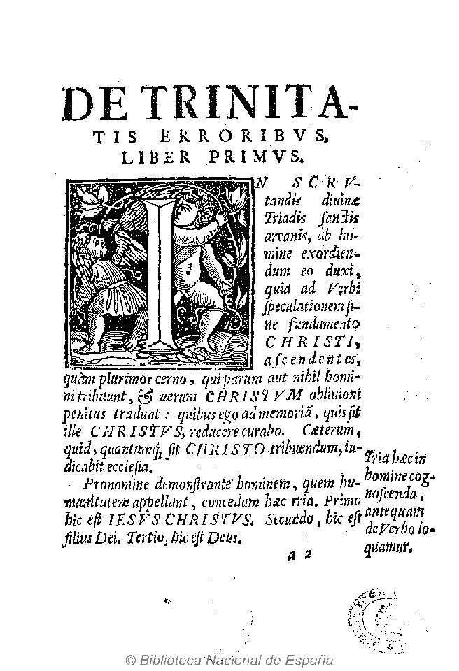 De Trinitatis Erroribus Libri Septem 1531 Michaelem Serueto