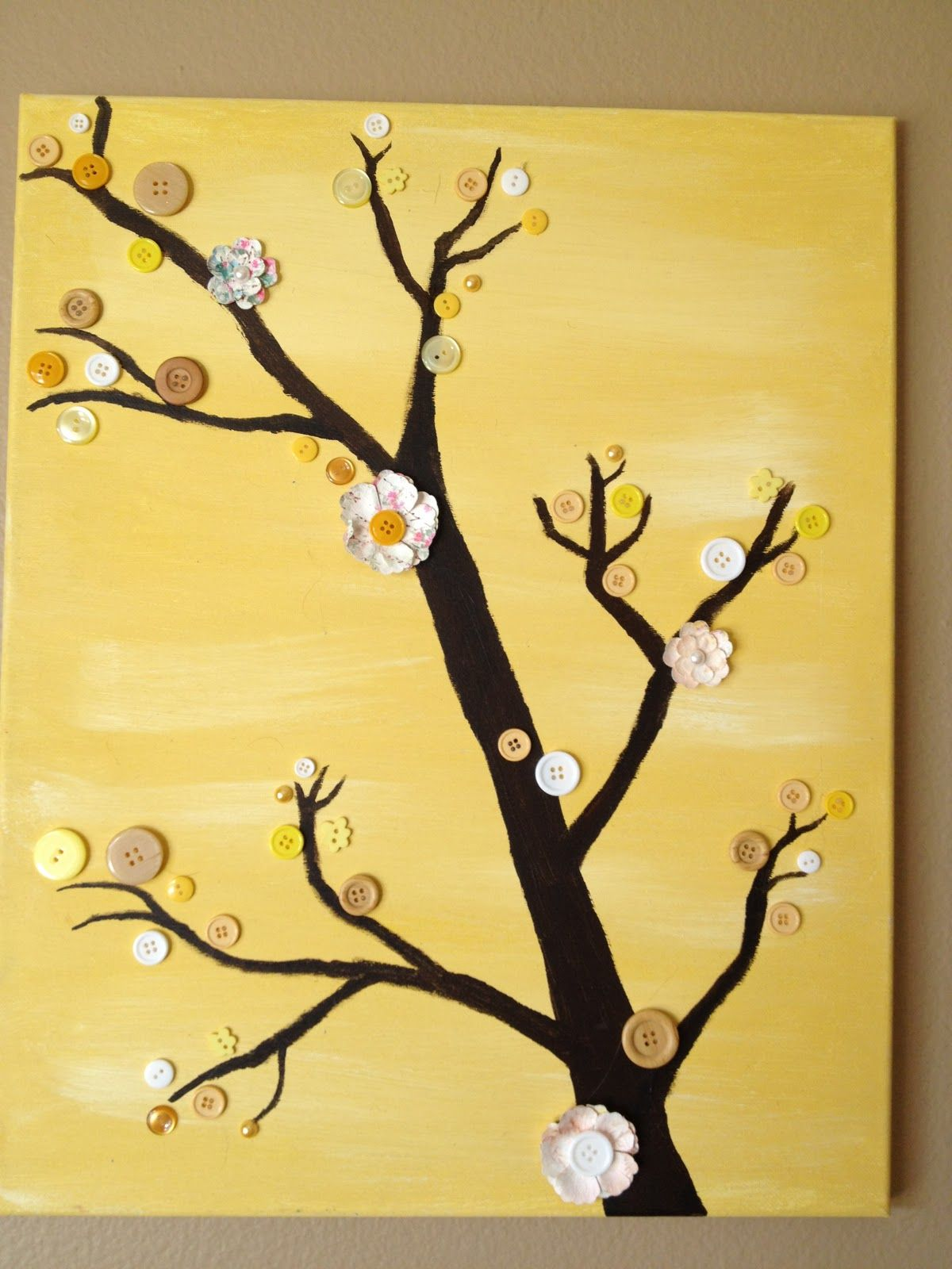 very cute wall decoration | For the Home | Pinterest | Button tree ...