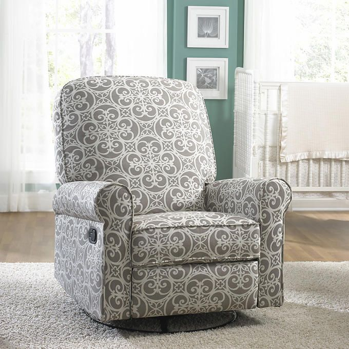 $479 Jordan Doodles Ash Swivel Glider Recliner COSTCO
