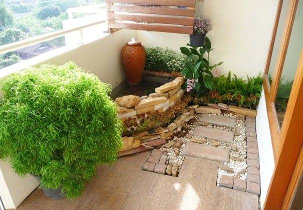 How To Make A Japanese Balcony Garden Small Japanese Garden Apartment Garden Large Backyard Landscaping