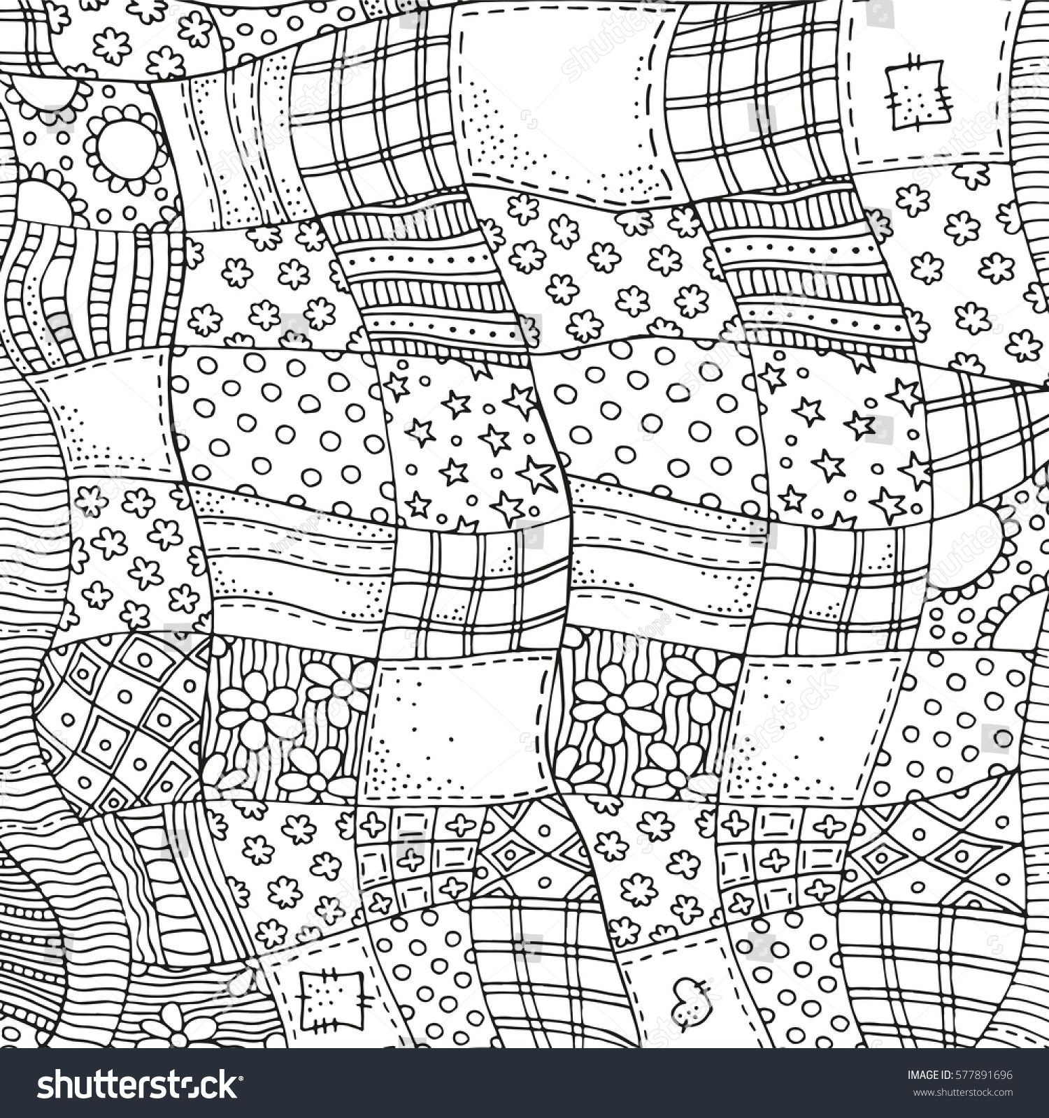 Patchwork Geometric Coloring Pages Horse Coloring Pages Free