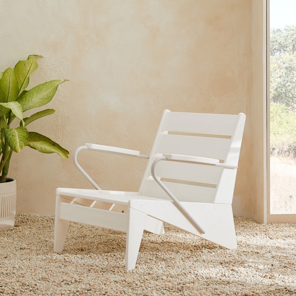 Modern Adirondack Lounge Chair White French Bistro Chairs