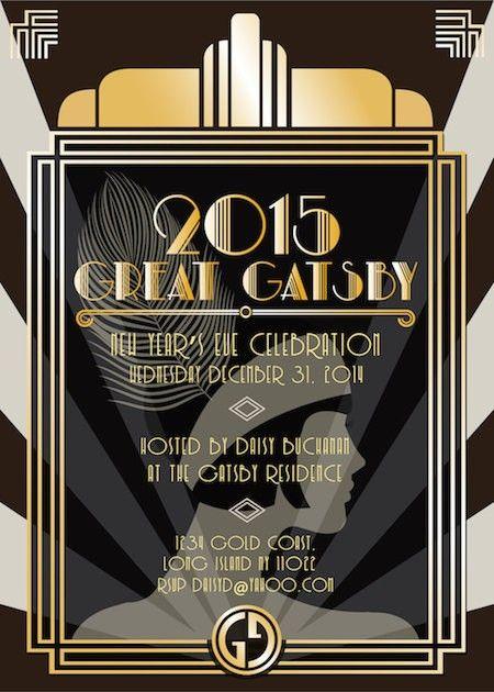 great gatsby invitation new year invitation new 2016 new year ideas paper goods new years invite