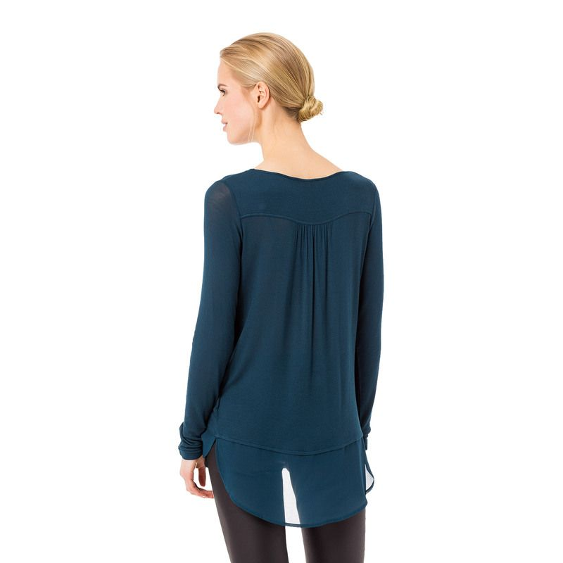 Blaues Shirt aus Viskose #zerofashion #blue