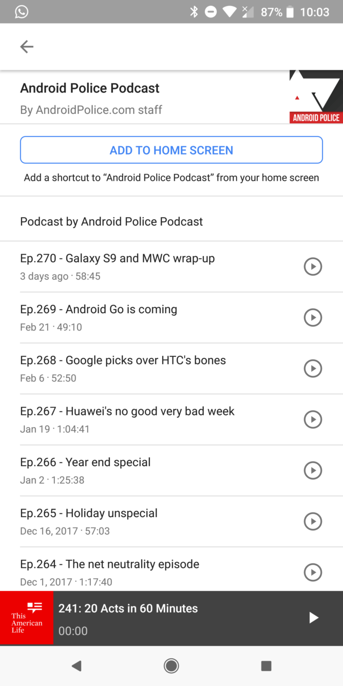 Google app starts rolling out podcast subscription and