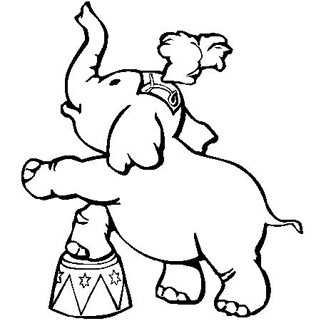 Dessin el phant de cirque a colorier dessin colorier et dessin non colorier pinterest - Dessin elephant ...