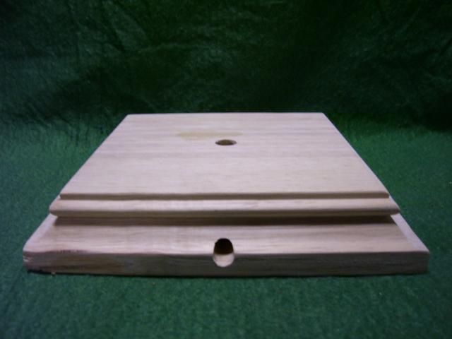 4 Square Grooved Base 1 1 8 Ht Recycled Home Decor Lamp Bases Groove