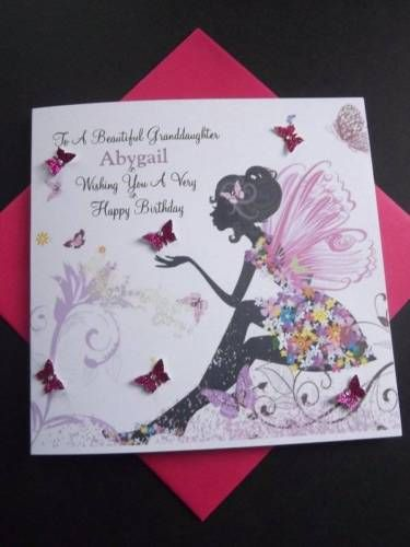 Handmade Personalised Birthday Card Sister Grand Daughter Daughter 18th Any Age View More On The Link Http Www Greeting Card Design Birthday Cards Cards