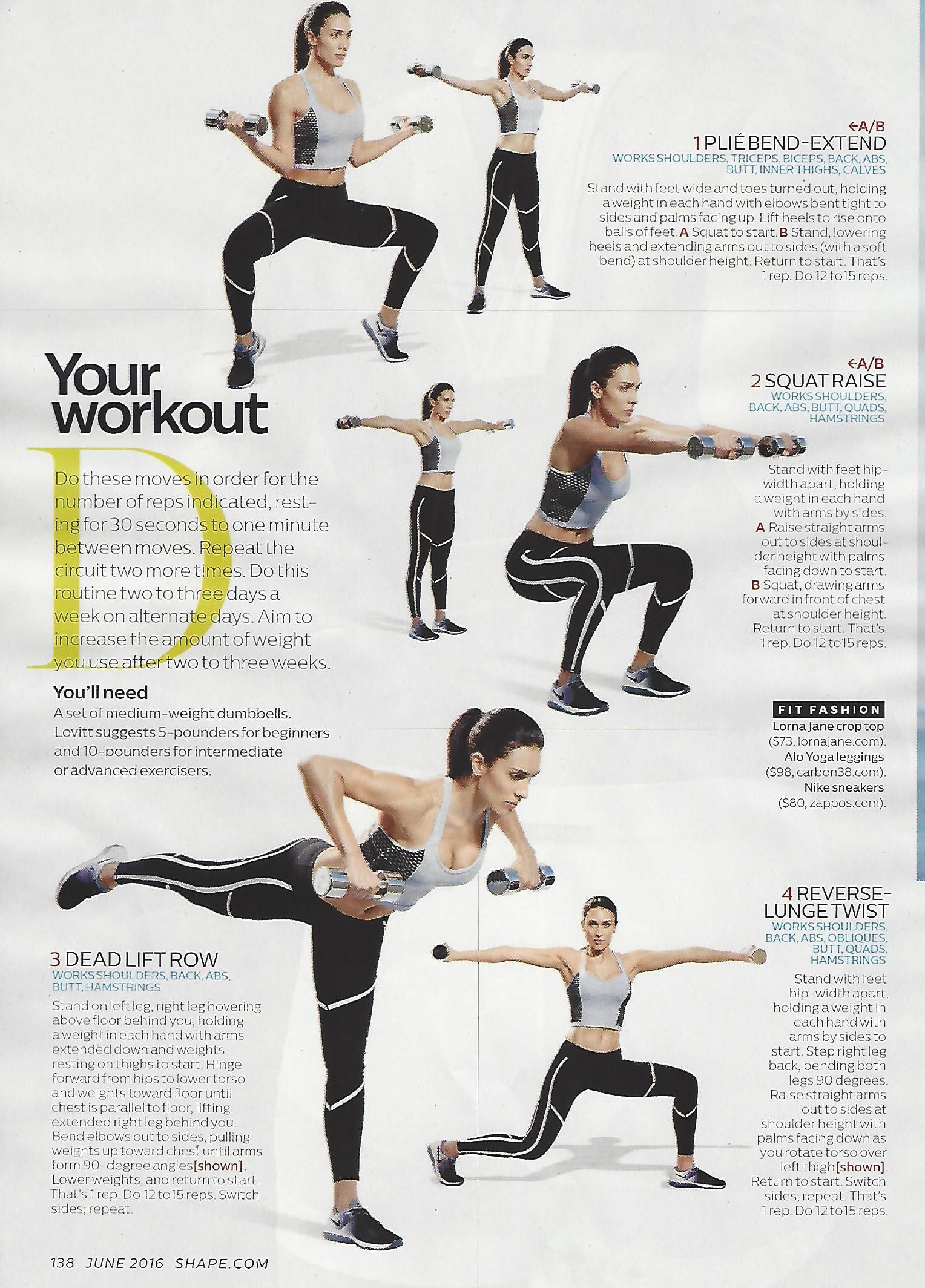 Shoulders workout from @MichelleLovitt seen in