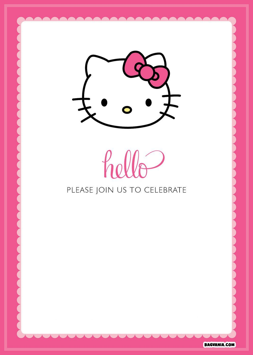 Cool Hello Kitty Party Invitations Fresh Hello Kitty Party Invitatio Hello Kitty Birthday Invitations Hello Kitty Invitations Birthday Invitation Card Template