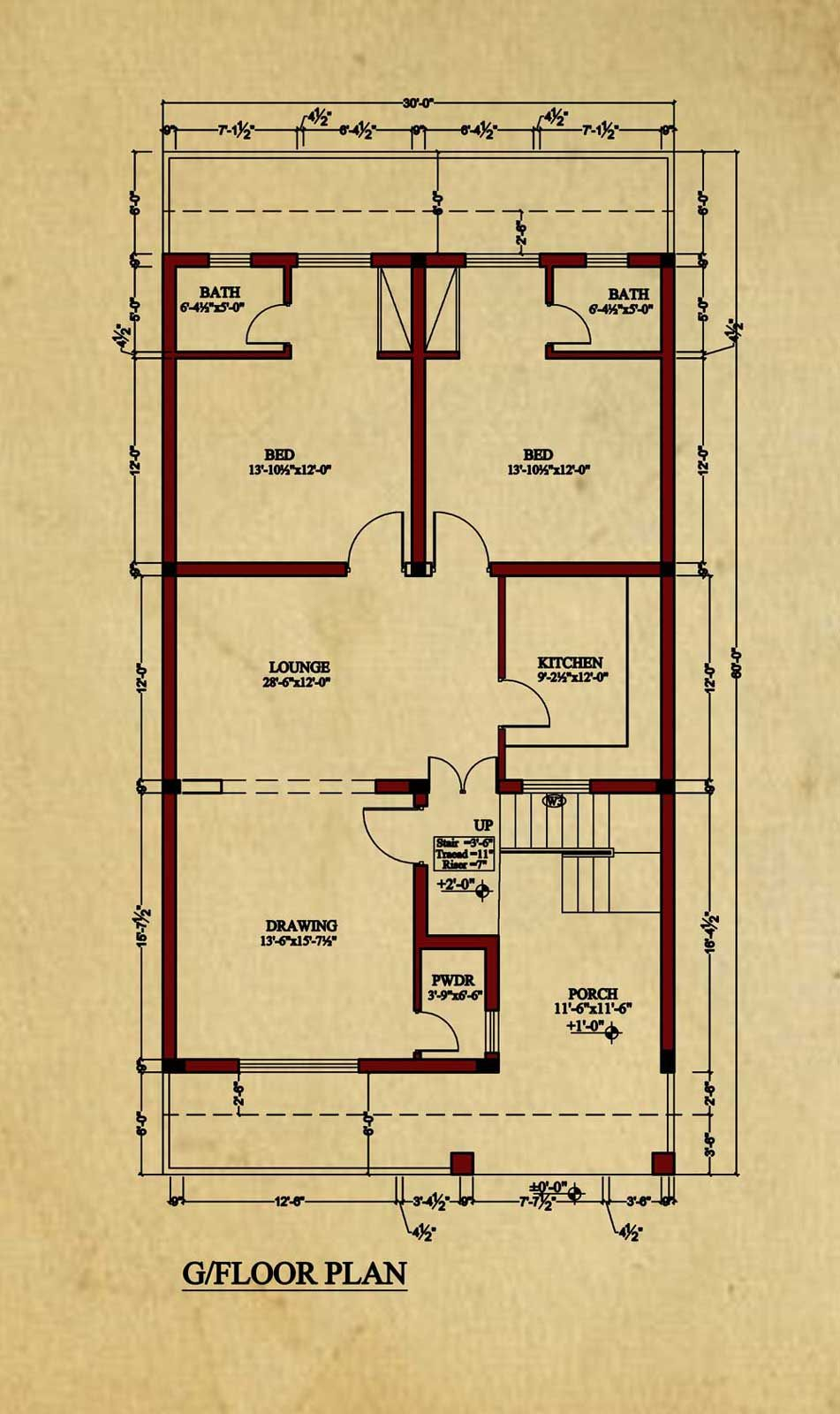 House Floor Plan By Image Concept 8 Marla House Plan 2bhk House Plan House Flooring House Map