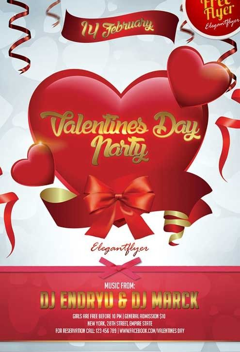 Free Valentines Day Party Template Psd Flyer Free Flyer Template