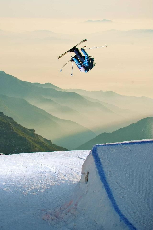 Pep Fujas gets inverted down in Chile. K2 skis facebook photo of the day on 2/16/12