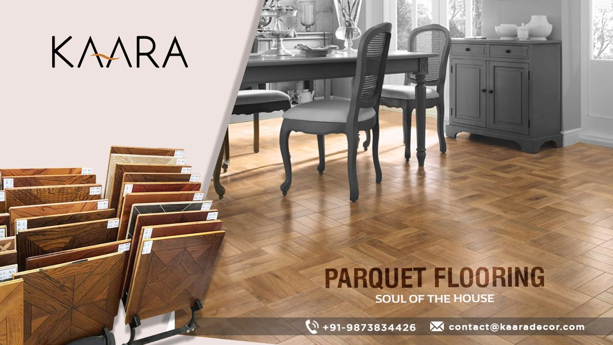 Add classic and contemporary twist to your traditional and modern homes with KAARA's Parquet Flooring. For buying/inquiries call us at +91-9873834426 OR mail us your details at contact@kaaradecor.com #parquetflooring #Specializedflooring #Flooring #kaara #kaaradecor