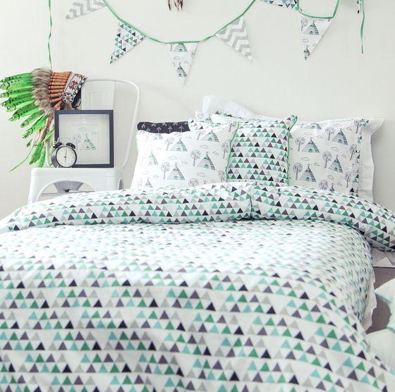 Single Bed Quilt Cover Set  Ashii/Brave By Alphabet Monkey.com.au