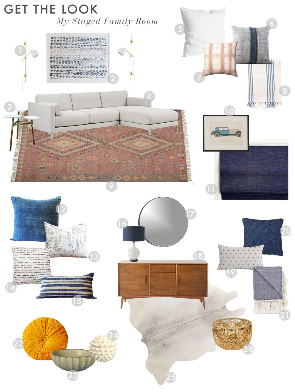 How we styled our family room and kitchen to sell living - How can we decorate our living room ...