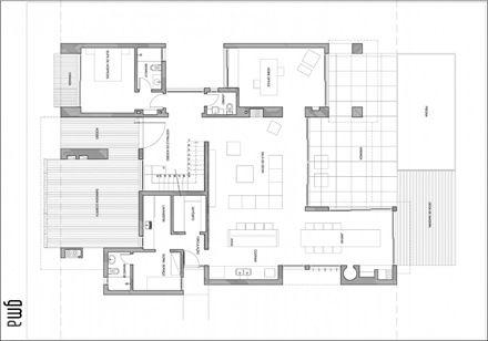 Plano casa moderna con piscina casa ckn architecture for Casas de campo modernas con piscina