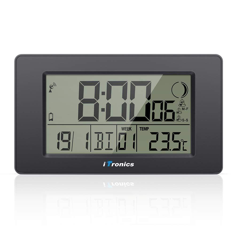0274944ad1a2 iTronics Reloj de Radio Digital de Pared con Indicador de Temperatura Reloj  despertador…   Reloj