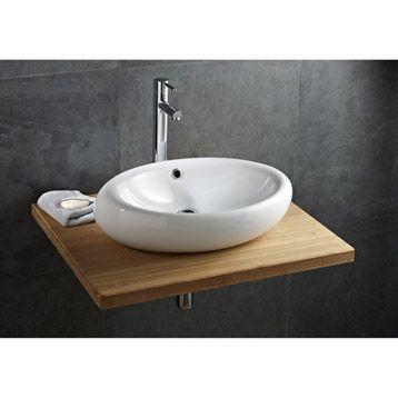 vasque poser oveo en c ramique blanc leroy merlin sdb pinterest vasque c ramiques. Black Bedroom Furniture Sets. Home Design Ideas