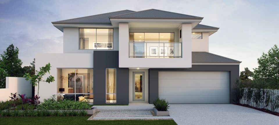 Hamelin 15m Two Storey Expression Range Apg Homes Two Story House Design Modern House Facades Storey Homes