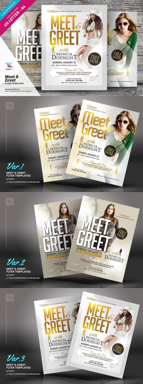 Meet Greet Flyer Templates In 2021 Flyer Template Flyer Poster Template Meet and greet flyer template