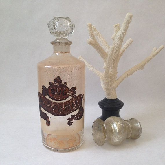 antique glass apothecary jar with a by sophisticatedflorida