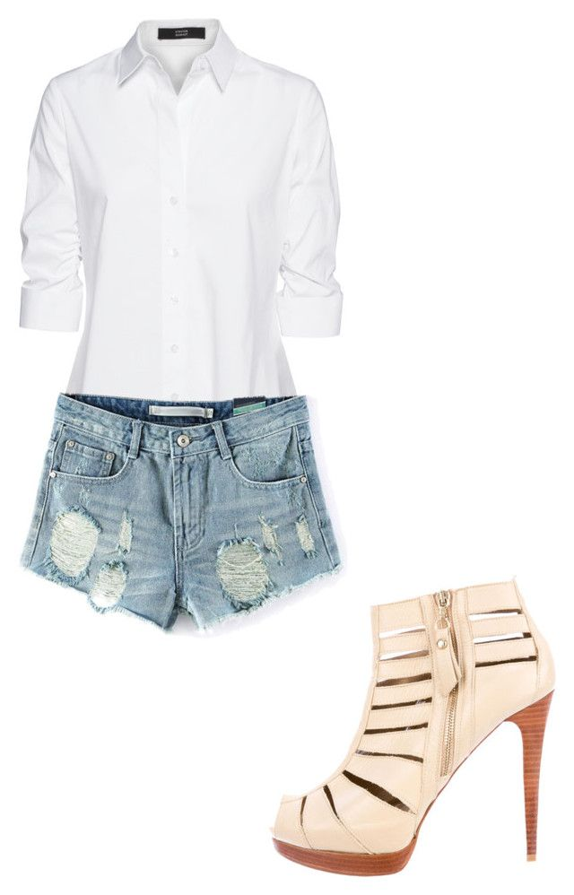 """""""Untitled #220"""" by crystal7700 on Polyvore featuring Stuart Weitzman and Steffen Schraut"""