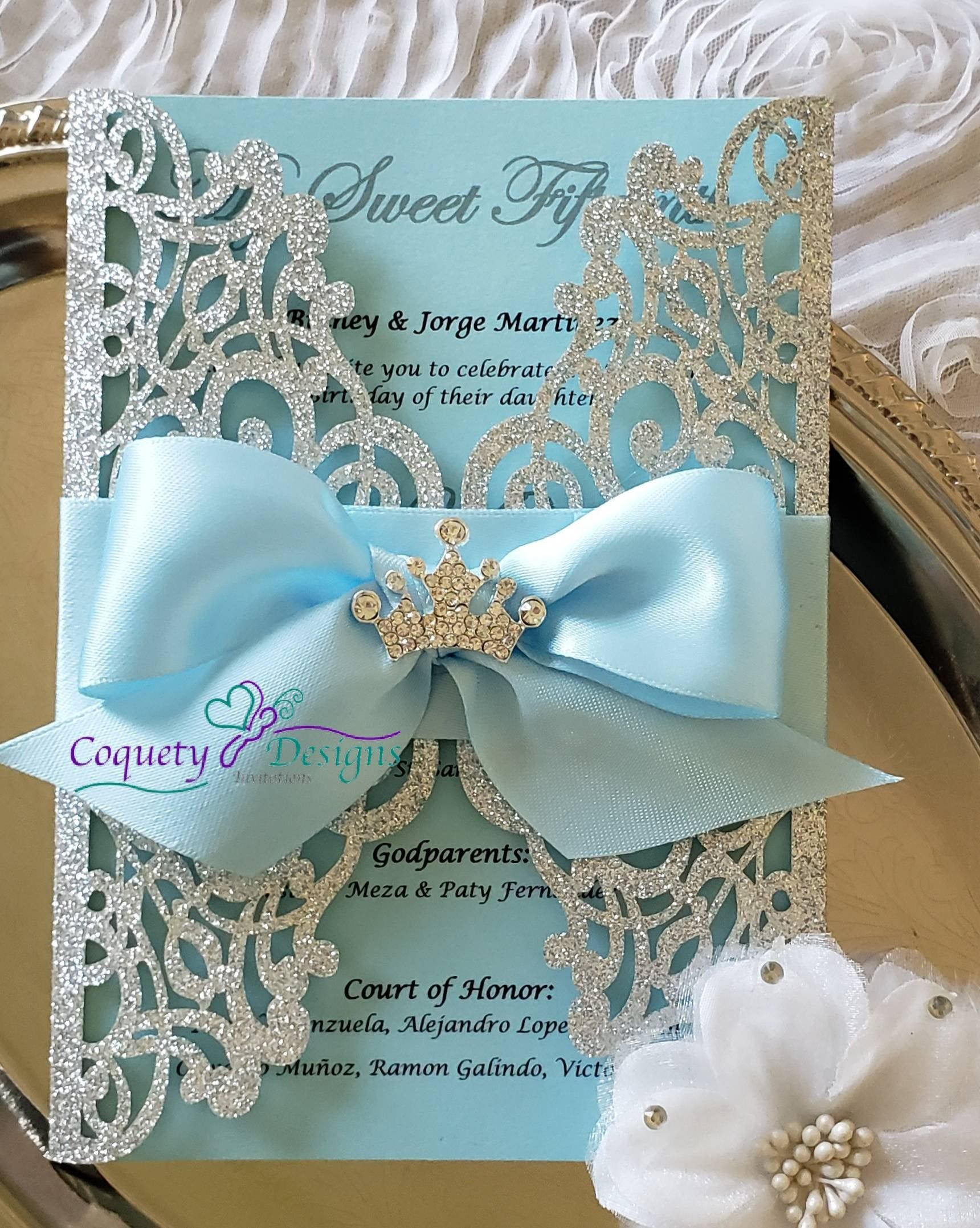 Princess Cinderella invitation/Quinceañeras/Sweet16