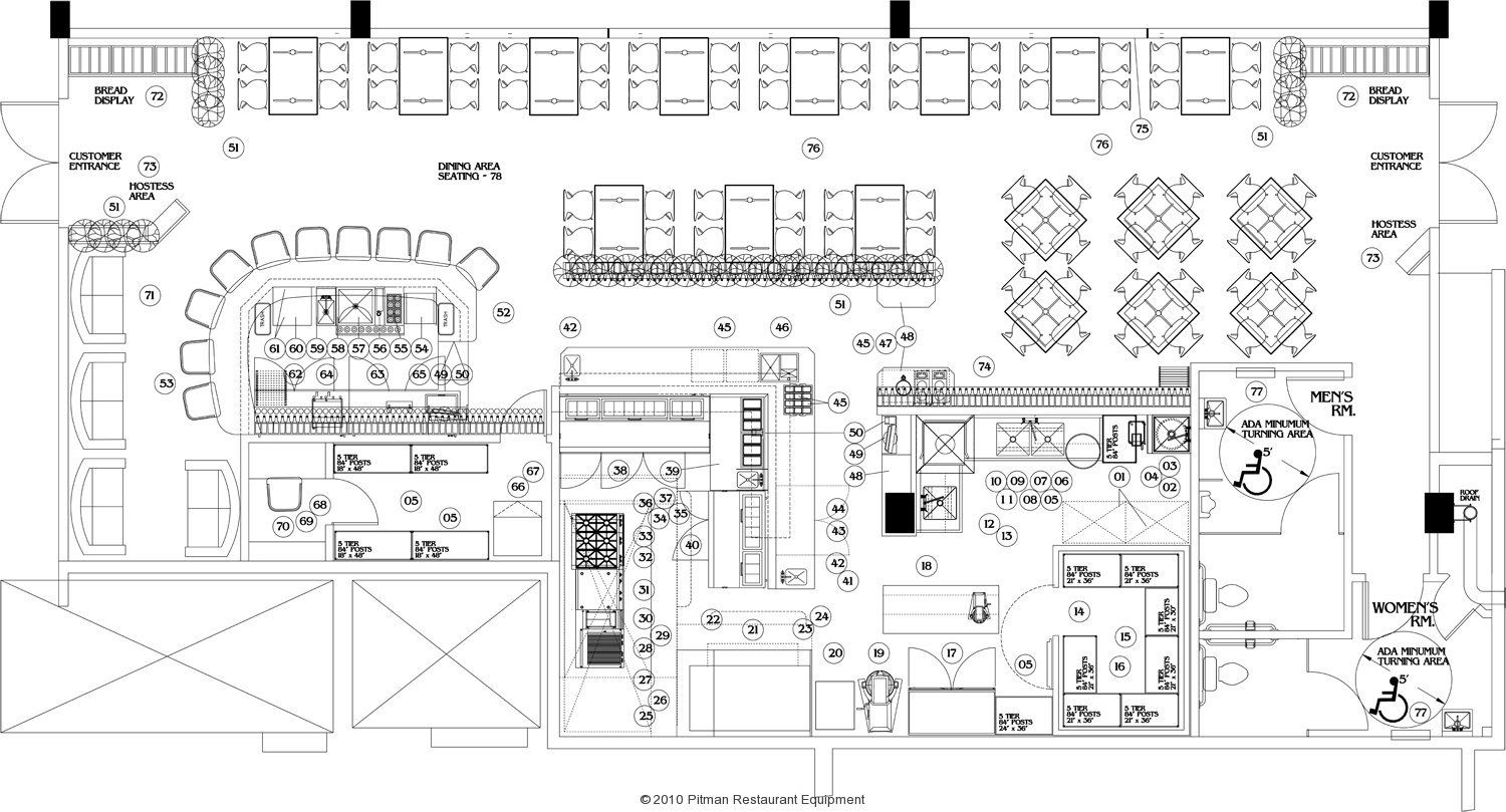 Commercial Steak House Kitchens Layout