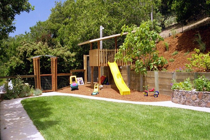 Small Backyard Landscape Designs Simple Sit Out On A New Deck From