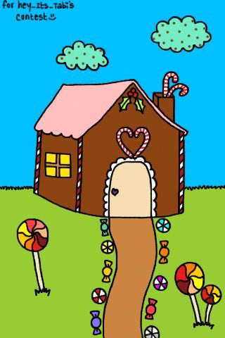 Gingerbread house i made some years ago for an art contest, i did not win but i had fun making it lol