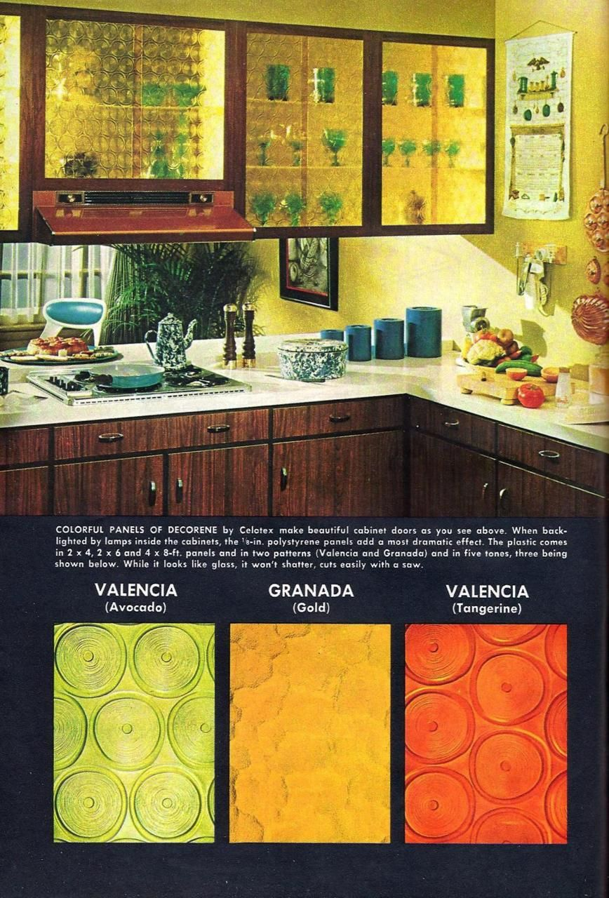 Decorene panels by Celotex, 1967. Grandma\'s kitchen had the gold ...