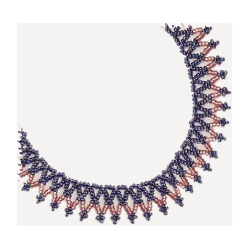 Free Beading Pattern: Basic Net Necklace   Bead-Patterns.com