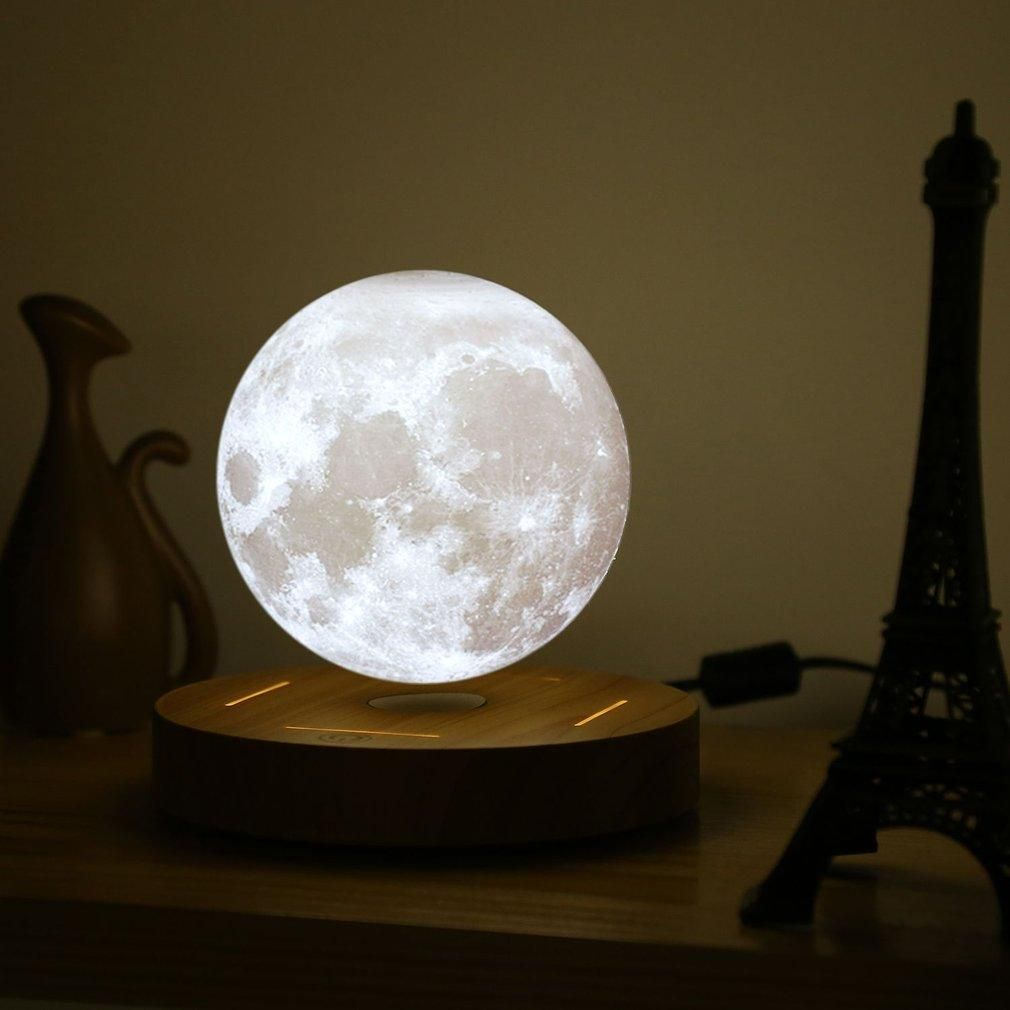 Magnetic Levitating 3d Printed Moon Lamp Lamp Decor Night Light