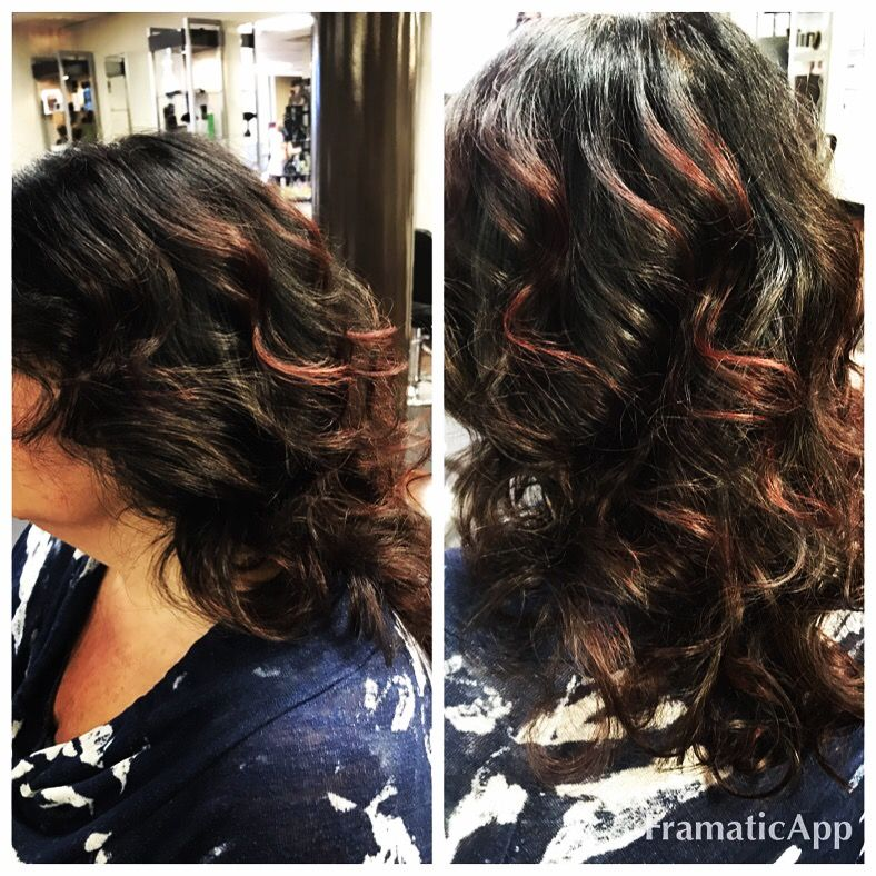 Crimson Highlights On Ebony Base By Bonnie Paynter Labellavitasalonofde Youneedbonniepaynter Redkencertifiedcolorist Beauty Hair Styles Colourist