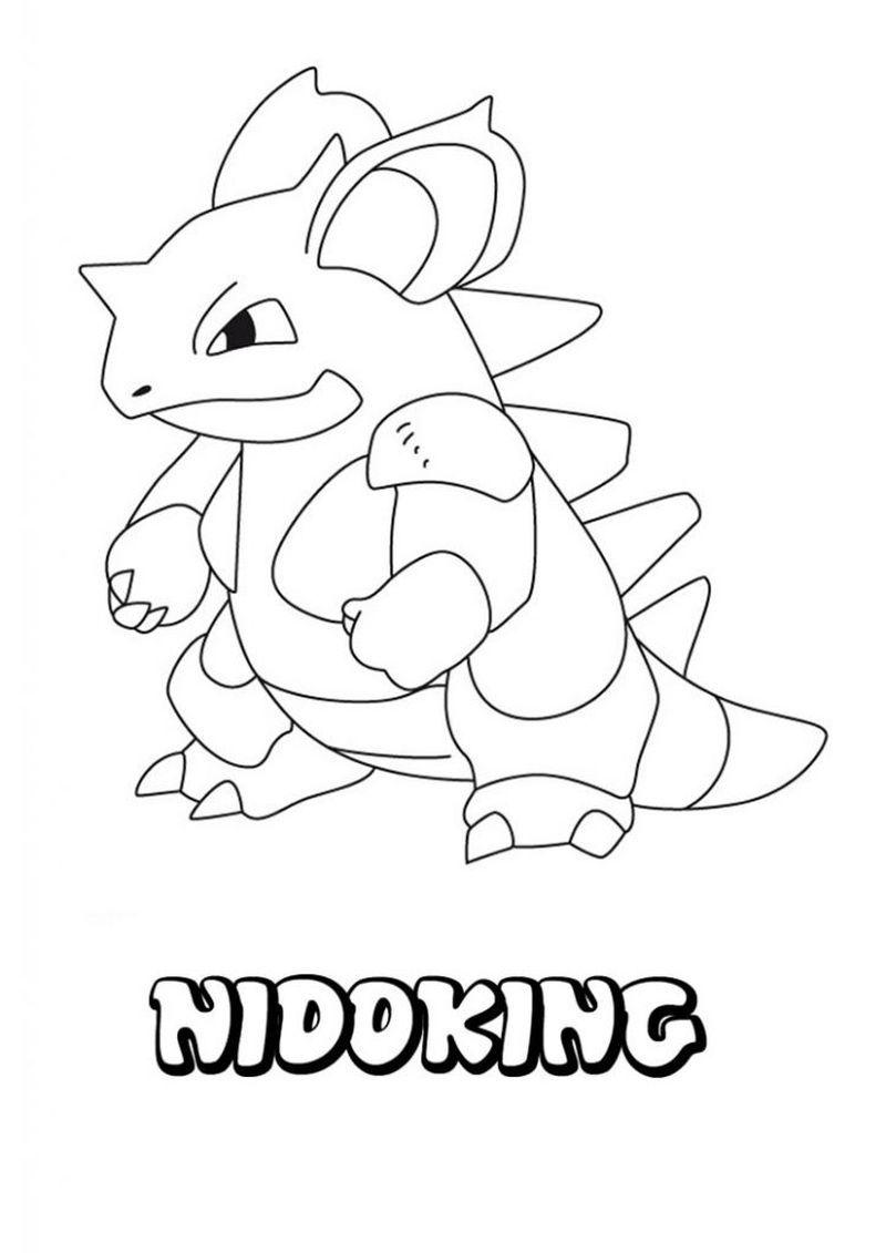 Nidoking Pokemon Coloring Pages Pokemon Coloring Pages Coloring Books Pokemon Coloring