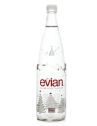ebac046c7 Evian Christmas Water | EVIAN | Water bottle design, Water, Bottle ...