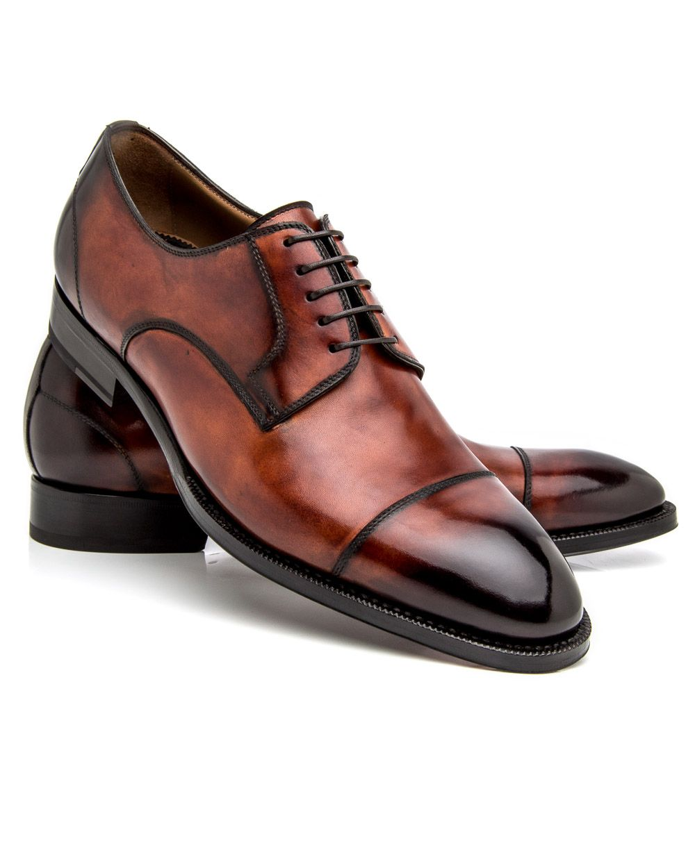 6a9df459d Di Bianco Deco Marmo Cap Toe Derby Smooth leather upper Rounded toe  Burnished…