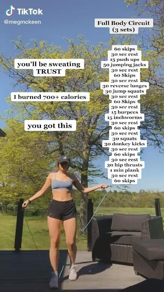 Intense jump rope workout
