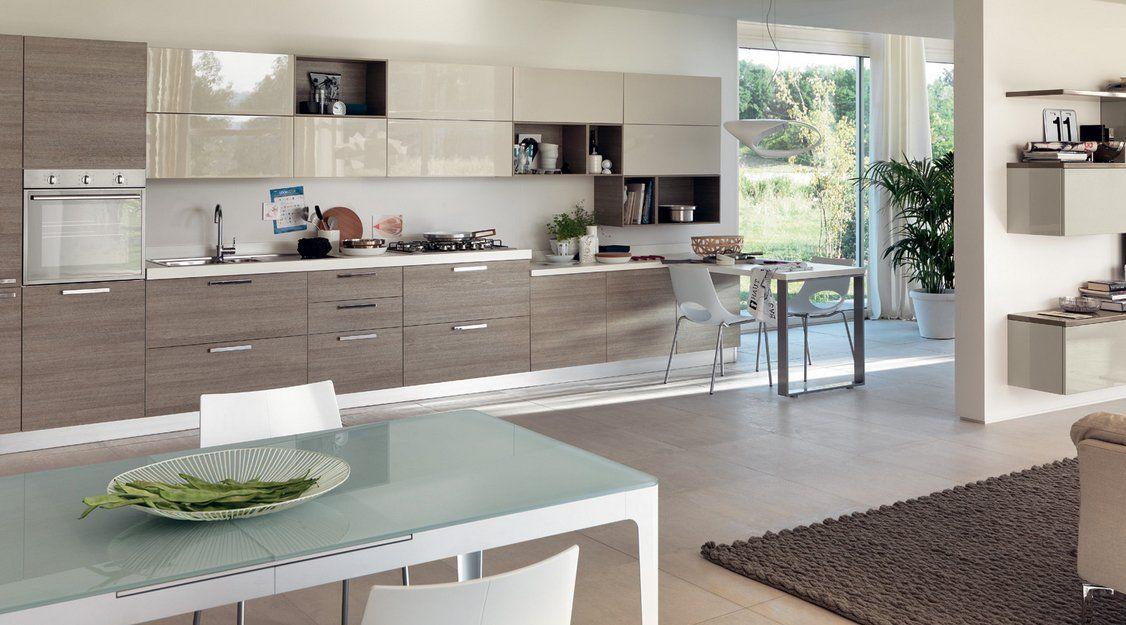 Cocinas modernas llenas de colorido scavolini ii for Ideas para cocinas modernas