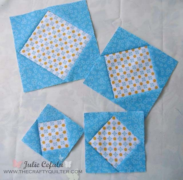 Perfect Square-in-a-square Technique by The Crafty Quilter ... : quilting technique - Adamdwight.com