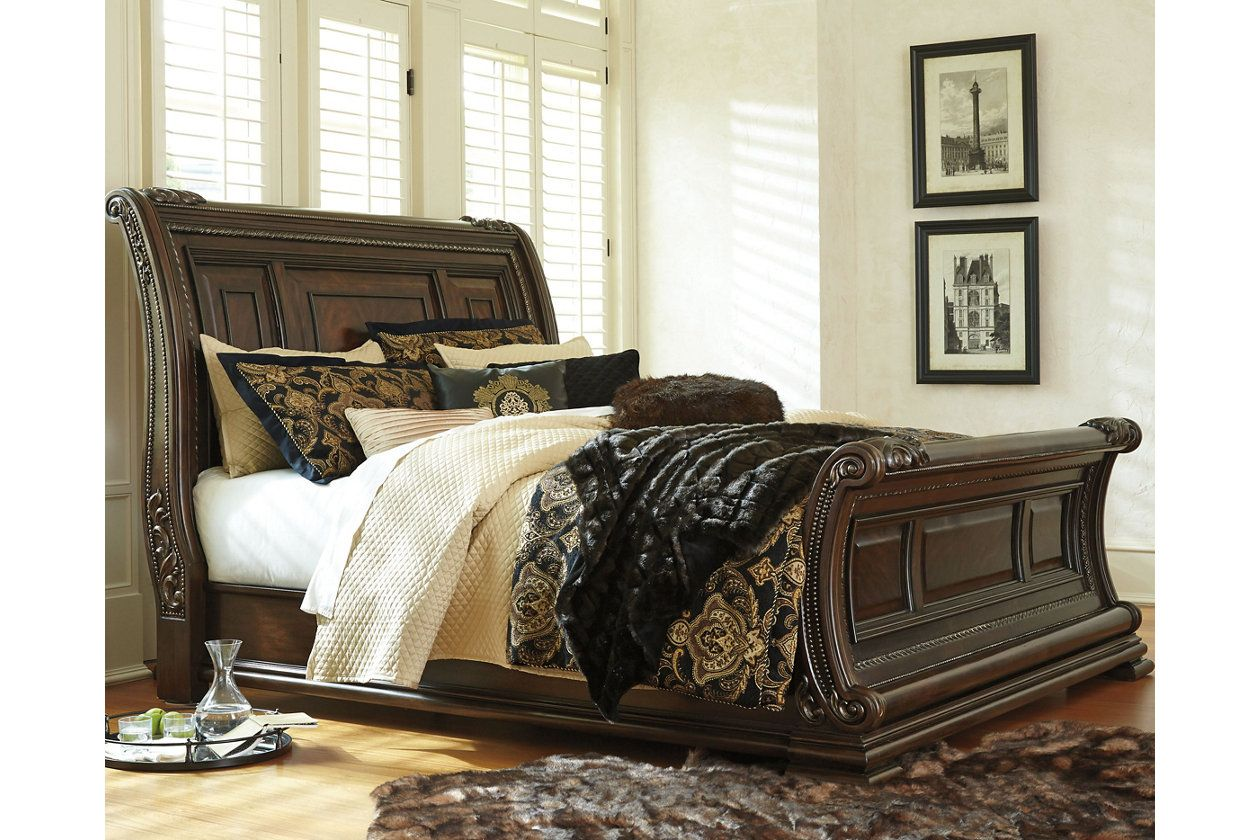 Valraven King Sleigh Bed Ashley Furniture Homestore Queen