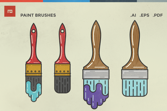 Check out Paint Brush Illustrations by Neno Design on Creative Market