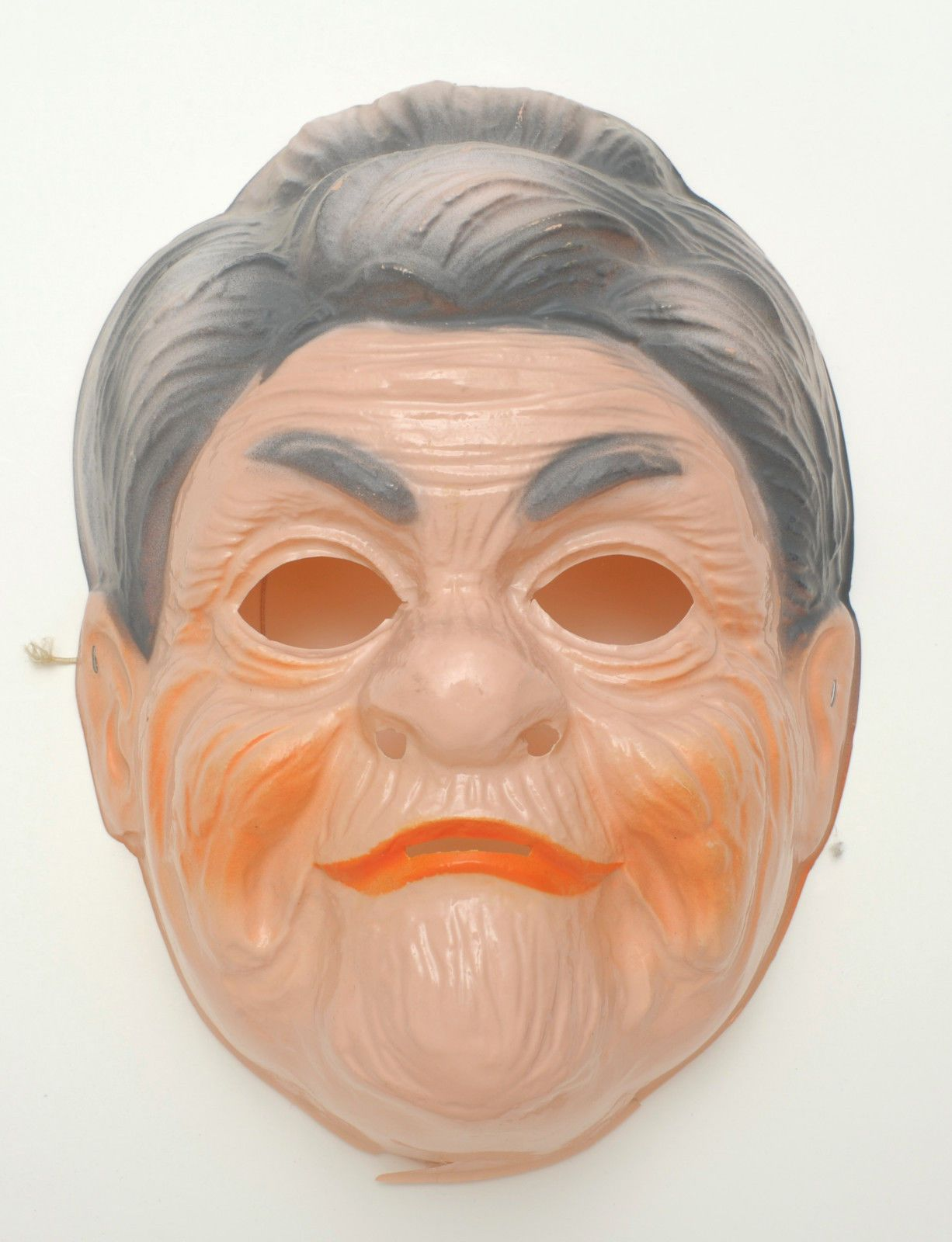 Old Woman Plastic Vintage Collegeville Ben Cooper Halloween Mask ...